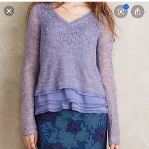 Anthro | Knitted and Knotted Purple Sweater